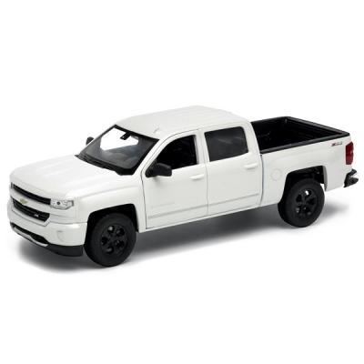 Автомобиль Welly Chevrolet Silverado 1:24 белый 24083 автомобиль welly bentley continental supersports 1 24 белый 24018