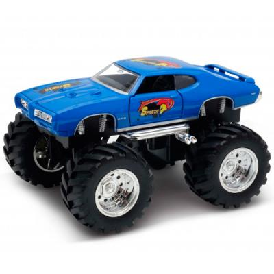 Фото - Автомобиль Welly Pontiac GTO Wheel Monster 1:34-39 синий 47008S welly 43714 велли модель винтажной машины 1 34 39 pontiac gto