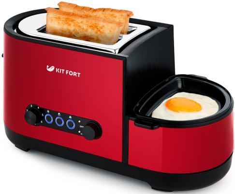 Тостер Kitfort КТ-2012-2 1300Вт красный тостер kitfort кт 2001 2