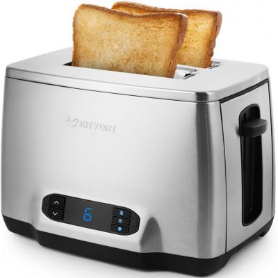 Тостер Kitfort КТ-2013 1050Вт серебристый тостер kitfort кт 2001 2