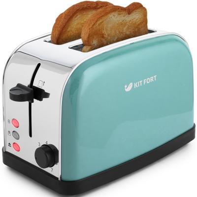 Тостер Kitfort КТ-2014-4 850Вт голубой тостер kitfort кт 2014 3 красный