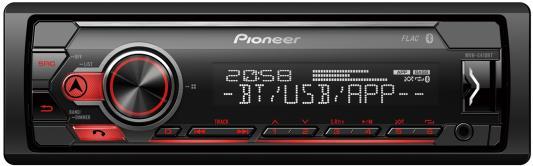 Автомагнитола Pioneer MVH-S410BT 1DIN 4x50Вт автомагнитола pioneer mvh s110uba 1din 4x50вт