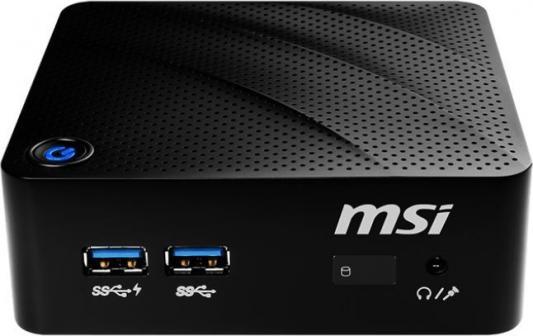Неттоп MSI Cubi N 8GL-023RU slim P N5000 (1.6)/4Gb/SSD128Gb/HDG/Windows 10/WiFi/BT/черный msi cubi 228xru