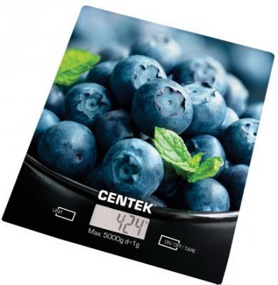 Весы кухонные Centek CT-2462 Голубика рисунок