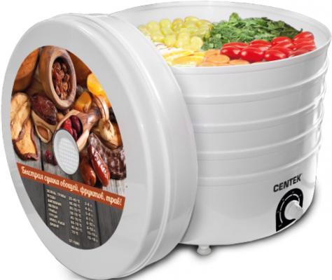 Сушилка для овощей и фруктов Centek CT-1660 сушилка для овощей и фруктов centek ct 1654