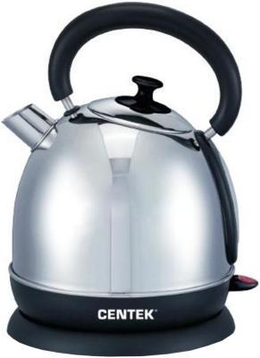 купить Чайник Centek CT-1078 2200 Вт серебристый чёрный 2 л нержавеющая сталь по цене 1030 рублей