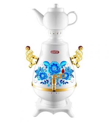 лучшая цена Самовар Centek CT-0092 A белый+рисунок+золото