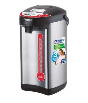 Термопот Centek CT-0082 Black 750 Вт чёрный серебристый 5 л металл термопот orion тп 05 5л 800 вт серебристый чёрный 5 л металл пластик