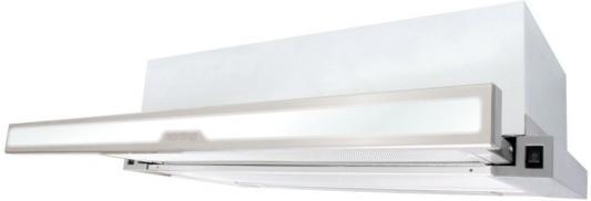 Встраиваемые вытяжки Korting/ Встраиваемая с выдвижным экраном, 60 см, 600 м3/ч, механическое управление, 2 режима, панель-нержавеющая сталь+белое стекло
