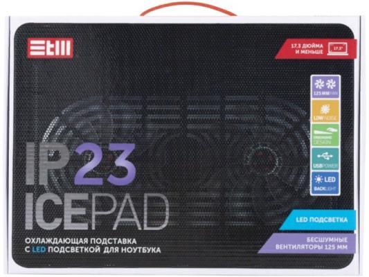 STM Laptop Cooling IP23 Black (17,3, 2x(125x125), plastic+metal mesh)