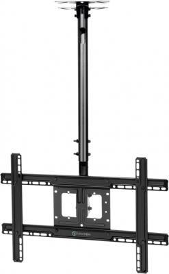 Фото - Кронштейн ONKRON N1L потолочный 32-70 макс 400х600 высота 717-1584мм наклон -5°/+15° поворот: 60° Макс нагрузка: 68,2кг кронштейн потолочный onkron n1l vesa 100 600 до 68 2кг черн для телевизора