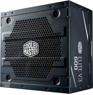Power Supply Cooler Master Elite V3 600, 600W, ATX, 120mm, 3xSATA, 1xPCI-E(6+2), APFC ce approved single output 600w 24v power supply se 600 24 25a single output power supply similar to meanwell