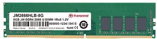 Оперативная память 4Gb (1x4Gb) PC4-21300 2666MHz DDR4 DIMM CL19 Transcend JM2666HLH-4G цена