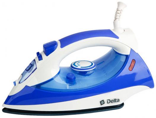 Утюг DELTA DL-415 белый с фиолетовым утюг delta