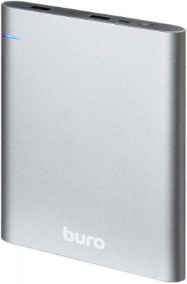 Внешний аккумулятор Power Bank 21000 мАч BURO RCL-21000 темно-серый внешний аккумулятор power bank 8000 мач defender extralife темно серый 83622