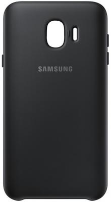 Чехол (клип-кейс) Samsung для Samsung Galaxy J4 (2018) Dual Layer Cover черный (EF-PJ400CBEGRU) клип кейс samsung dual layer cover ef pj530 для galaxy j5 2017 черный