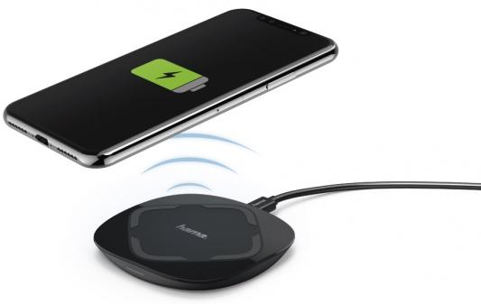 Фото - Беспроводное зарядное устройство HAMA QI-FC 5 microUSB 1A черный 00178975 беспроводное зарядное устройство buro cwc qc1 qc3 0 microusb 1a черный