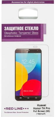 Защитное стекло для экрана Redline черный для Huawei Honor 7A Pro 3D 1шт. (УТ000014478) redline red line стекло для lenovo vibe shot