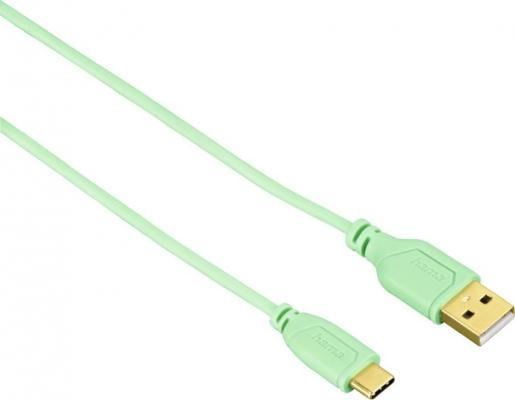 Кабель Type-C 0.75м HAMA Flexi-Slim круглый зеленый 00135786