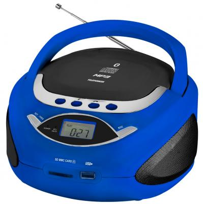 цена на Аудиомагнитола Telefunken TF-CSRP3494B синий 2Вт/CD/CDRW/MP3/FM(an)/USB/BT/SD/MMC