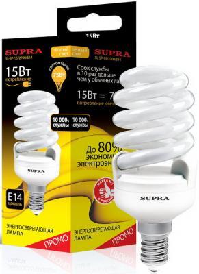 Лампа люминесцентная Supra SL-SP-15/2700/E14