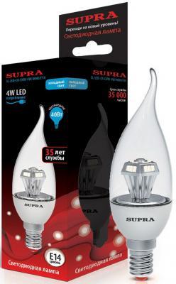 Лампа светодиодная Supra SL-LED-CNW-4W/4000/E14 лампа настольная supra sl tl201 red