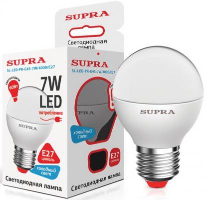 Лампа светодиодная Supra SL-LED-CR-G45-6W/4000/E27 e27 6w 450lm 6000k 120 smd 3014 led white light candle lamp ac 85 265v