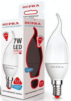 Лампа светодиодная Supra SL-LED-PR-CNW-7W/4000/E14 лампа настольная supra sl tl201 red