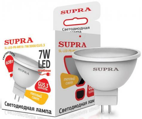 Лампа светодиодная Supra SL-LED-PR-MR16-7W/3000/GU5.3 лампа настольная supra sl tl201 red