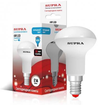 Лампа светодиодная Supra SL-LED-PR-R50-6W/4000/E14 цена