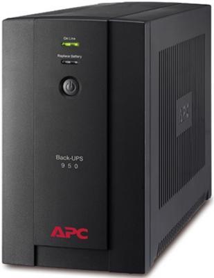 Источник бесперебойного питания APC Back-UPS BX950U-GR 480Вт 950ВА черный источник бесперебойного питания apc back ups pro bx650li gr 650вa