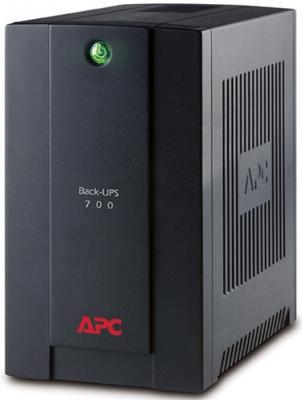 Источник бесперебойного питания APC Back-UPS BX700U-GR 390Вт 700ВА черный источник бесперебойного питания apc back ups pro bx650li gr 650вa