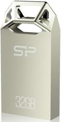 Флеш Диск Silicon Power 32Gb Touch T50 SP032GBUF2T50V1C USB2.0 серебристый флеш диск silicon power 8gb touch 835 серый sp008gbuf2835v1t