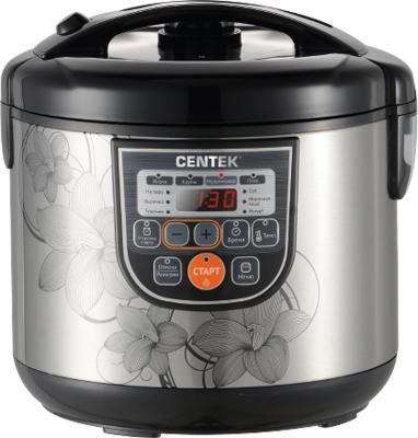 Мультиварка Centek CT-1498 сталь черный 700 Вт 5 л мультиварка centek ct 1496 black steel