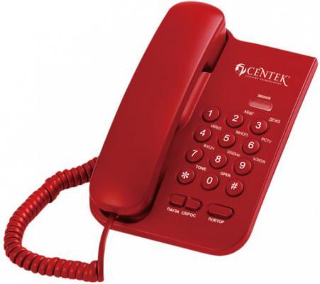 Фото - Телефон Centek CT-7004 Red проводной и dect телефон foreign products vtech ds6671 3