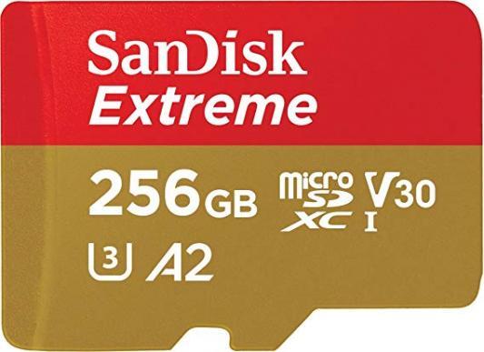 цена на Флеш карта microSDXC 256Gb Class10 Sandisk SDSQXA1-256G-GN6MA Extreme + adapter