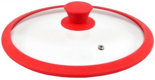 Крышка стеклян. TimA 4622R с силикон/обод 22см красная