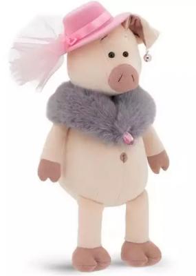 Мягкая игрушка свинка ORANGE Мадам Свинкина искусственный мех текстиль пластик 30 см orange мягкая игрушка orange свинка сашенька 25 см