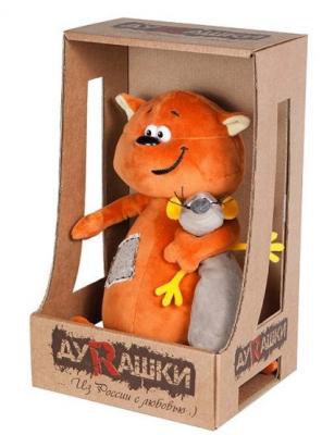 Купить Мягкая игрушка кот ДуRашки Котэ & Mouse искусственный мех пластмасса наполнитель 25 см, разноцветный, искусственный мех, пластмасса, наполнитель, Животные