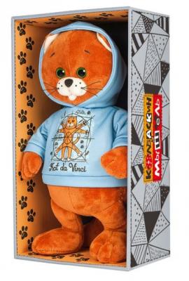 Мягкая игрушка кот Колбаскин&,Мышель Колбаскин Да Винчи искусственный мех пластмасса наполнитель 20 см