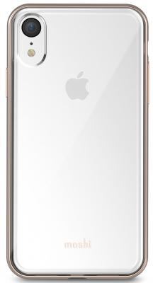 Накладка Moshi Vitros для iPhone XR прозрачный золотой 99MO103301 клип кейс moshi vitros для apple iphone xr серебристый