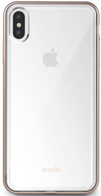 Чехол Moshi Vitros для iPhone XS Max. Материал пластик. Цвет прозрачный золотой. чехол speck presidio clear glitter для iphone xs max материал пластик цвет прозрачный золотой