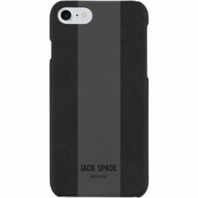 Накладка Jack Spade Snap Case для iPhone 7 Plus iPhone 8 Plus чёрный серый JSIPH-025-BLMG baseus little devil case for iphone 7 plus black