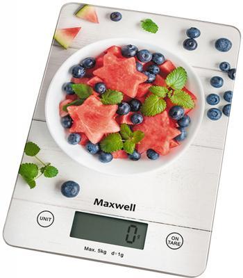 Весы кухонные Maxwell MW-1478(MC) белый рисунок