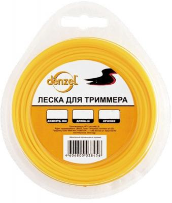 Леска для триммеров DENZEL 96163 треугольная 2.0ммх15м катушка denzel 96322