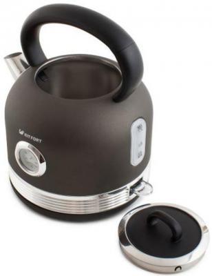 Картинка для Чайник электрический KITFORT КТ-634-1 2150 Вт графит 1.7 л нержавеющая сталь
