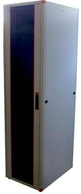 """Шкаф напольный EVOLINE 19""""42U600x600 передняя дверь одностворчатая перфорированная, задняя дверь одностворчатая металлическая, цвет серый, Estap  - купить со скидкой"""