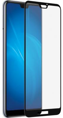 Закаленное стекло 3D с цветной рамкой (fullscreen) для Huawei P20 Lite DF hwColor-63 (black)