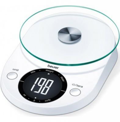 Весы кухонные Beurer KS33 белый весы кухонные beurer ks25
