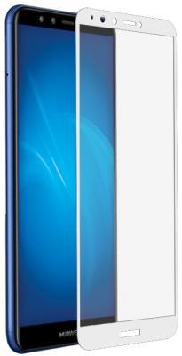 Закаленное стекло с цветной рамкой (fullscreen+fullglue) для Huawei Honor 7A Pro/Y6 (2018)/Honor 7C/Y6 Prime (2018) DF hwColor-54 (white) цена